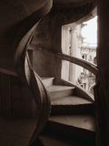Spiral Stone Staircase in Convento de Cristo