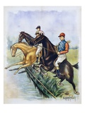 Poster of a Steeplechase Horse Race by A Mantelet