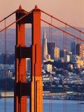 Pont du Golden Gate et horizon de San Francisco Papier Photo par Paul Souders