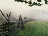 Morning Fog on a Mountain Farm