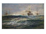 The First Battle Squadron of Dreadnoughts Steaming down the Channel