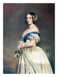 Young Queen Victoria W/Rose In Hand