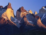 Morning Sunlight Hitting Cuernos del Paine