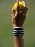 Hand of a Wimbledon Ball Boy Holding a Tennis Ball