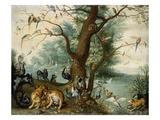 Animals and Birds in the Garden of Eden