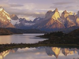 Cuernos del Paine and Lake Pehoe at Sunrise