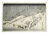 Evening Snow at Asuka-yama from the Series Eight Views of the Suburbs of Edo