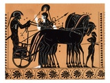 Departure of Iolas in a Chariot  Assisted by Athena  for the Games Given in Honor of Pelias Print b