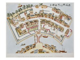 Plan of the Dutch Factory in the Island of Desima  at Nagasaki  Book from Illustrations of Japan