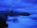 Lighthouse on Rocky Shore