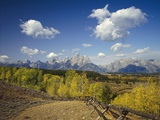 Fence Bordering Ranch Near the Teton Range