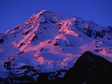 Sunset Alpenglow on Mount Rainier