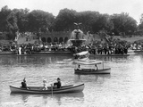 Boaters in Front of Bethesda Terrace  Central Park