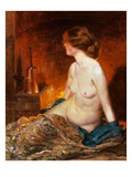Nude Figure by Firelight