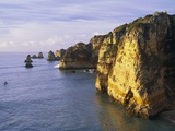 Sanstone Cliffs at Praia de Dona Ana Beach in Portugal