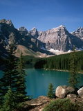 Moraine Lake and Surrounding Mountains