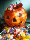 Halloween Candy in Jack O'Lantern Pail