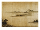 Detail Showing Mountains and Water from a Jin or Yuan Dynasty Painting entitled Clear Weather in th