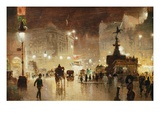 Piccadilly Circus, London Giclée par George Hyde-Pownall