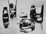 Drinking Glasses and Ashtray