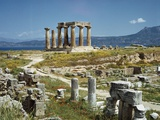 Distant View of the Temple of Apollo at Corinth