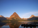 Glaciated Peaks Around Lake