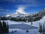 Lake and Mount Rainier