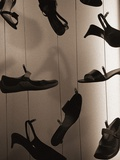 Ladies Shoes Hanging on Wire