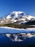 Alpine Lake Reflecting Mt Rainier