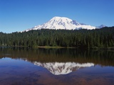 Lake Reflecting Mount Rainier
