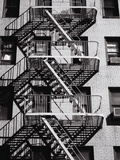 Fire Escape on Apartment Building Reproduction d'art par Henry Horenstein