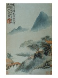 View of a Misty Riverbank from an Album of Twelve Landscape Paintings