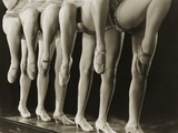 Chorus Girls Lining Up Showing Legs
