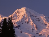 Sunset on Mount Rainier