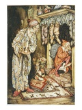 Illustration Depicting Santa Claus Delivering Gifts by Arthur Rackham