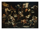 Imaginary Animals and Dwarfs Fighting  Drinking and Carousing