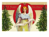A Merry Christmas with Angel and Christmas Trees