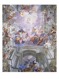 Detail of Heaven and Angels from The Glorification of Saint Ignatius