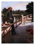 An Elegant Man on a Terrace