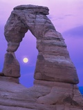 Moon Framed by the Delicate Arch