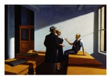 Conference at Night Giclée par Edward Hopper