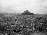 View Of Athens With Mt Lycabitos