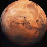 Valles Marineris Hemisphere of Mars Papier Photo