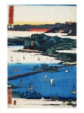 Print of Coastal Scene by Hiroshige