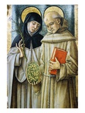 Detail of Saint Bernardino and Saint Catherine of Siena