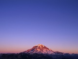 Western Face of Mount Rainier at Sunset