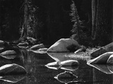 Lake and Rocks by Brett Weston
