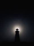 Lighthouse at Night in Peggy's Cove
