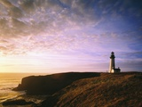 Sun Rising over Yaquina Head Lighthouse