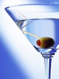 Green Olive in Martini Drink